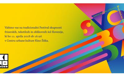 Vabilo na Festival skupnosti frizerskih, tekstilnih in oblikovnih šol Slovenije